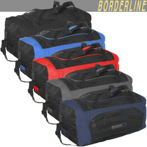 2ee866c11c3a Details about Mens Ladies Large Black Sports Gym Duffle Holdall Bag SPORTS  TRAVEL WORK