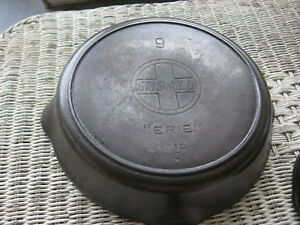 Griswold Cast Iron Frying Pans 11 9 6 5 Inch Diameters