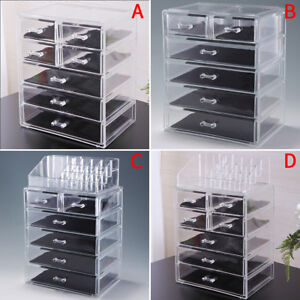 Acrylic Jewelry Organizer Drawer Makeup Box Cosmetic Display Holder