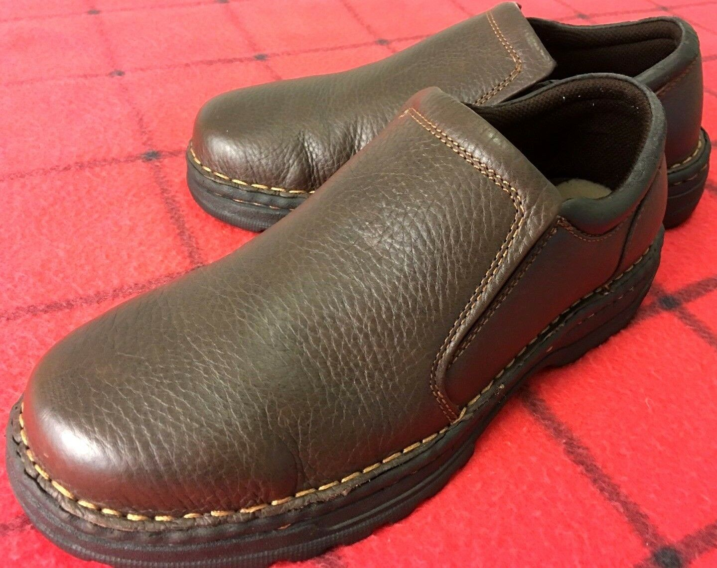 HUNTER'S BAY LEATHER COLLECTION MEN Sz 7 DK TAN SHOE LEATHER UPPER LOAFERS DRESS SHOE TAN f7f154