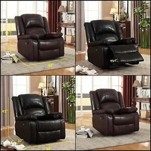 Image Is Loading Wall Hugger Glider Rocker Recliner Chair Sofa Bonded
