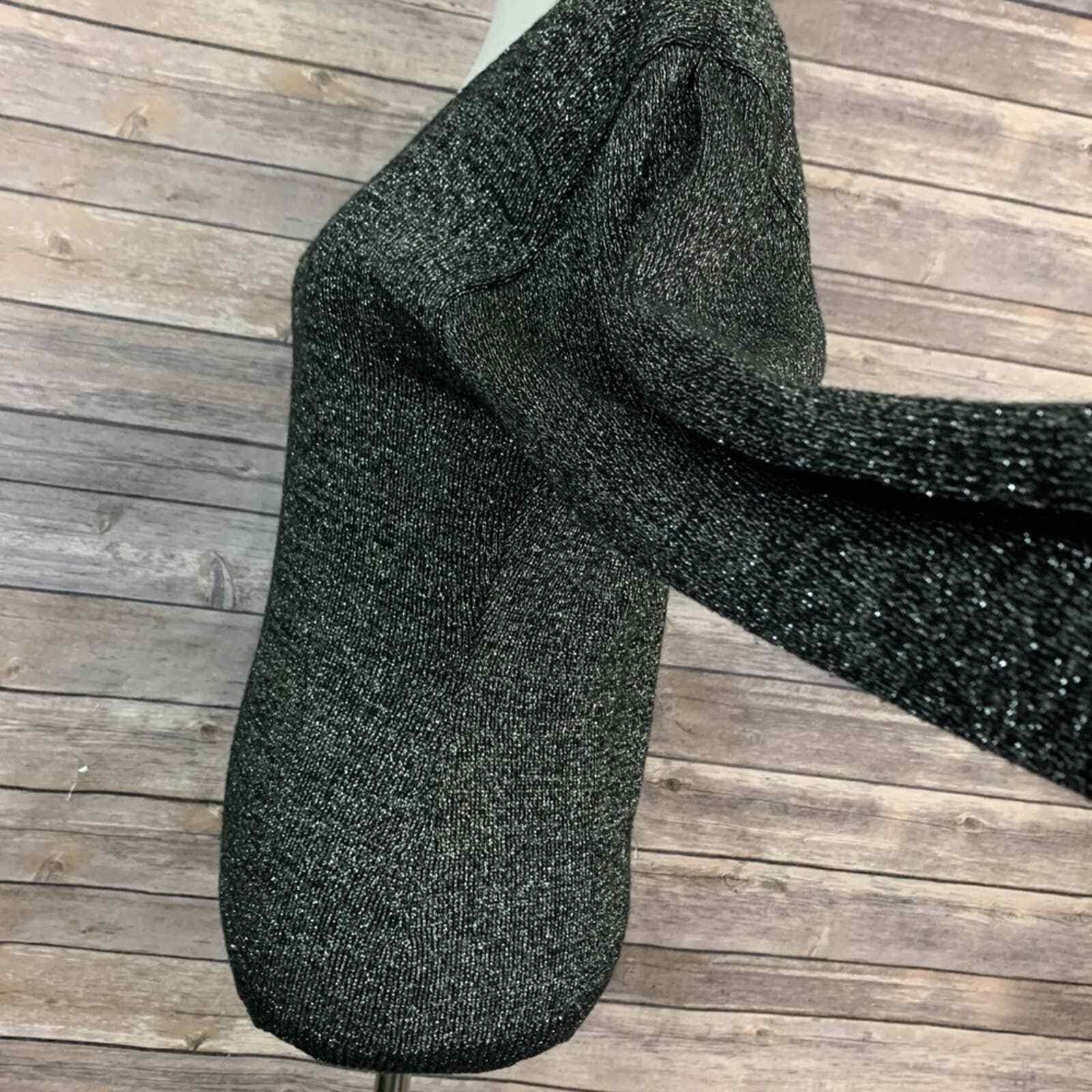 Vintage Kansai Yamamoto Black Metallic Sweater (S… - image 3