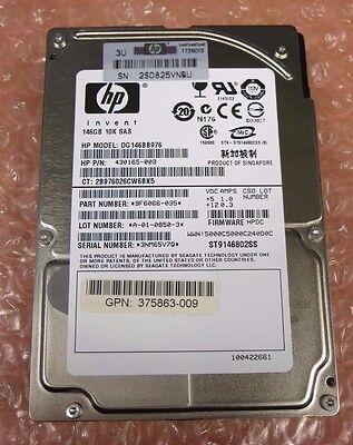 "HP 146GB 10K SAS SFF 2.5/"" HOT-PLUG DRIVE 431958-B21 432320-001 430165-003 ..."
