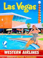 Las Vegas Nevada Airlines United States America Travel Advertisement Poster