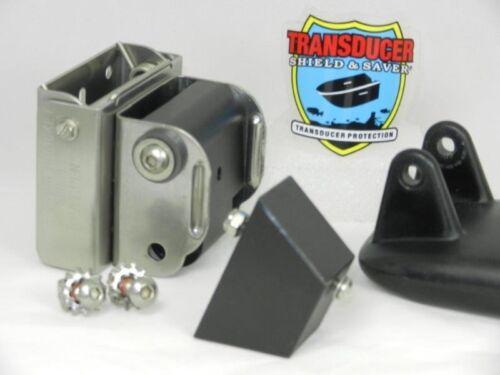 TRANSDUCER SHIELD & SAVER SPRING BACK BRACKET & ANGLE BLOCK FOR HUMMINBIRD HDsi