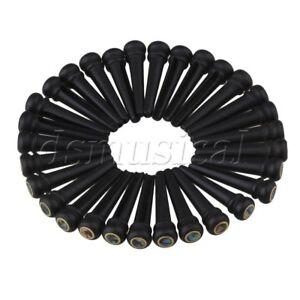 30PCS-Brass-Circle-Ebony-Abalone-Dot-Bridge-End-Pin-for-Acoustic-Guitar-Black