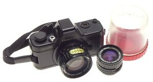 Pentax-Auto-110-Sub-miniature-Film-Camera-1-2-8-50mm-plus-18mm-Lens-in-Keeper
