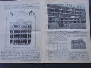 1903 Baugewerkszeitung 91/grand Magasin Staeding Braunschweig/halle Securite-ung 91 / Warenhaus Staeding Braunschweig / Halle Südstraße Fr-fr Afficher Le Titre D'origine