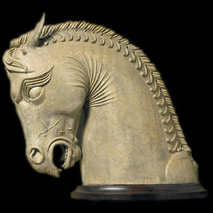 Ancient Persian Horse From Persepolis Art Head Bust Statue Sculpture Ebay