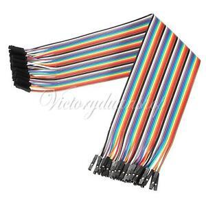 40x-30cm-Female-Female-jumper-wire-Cable-Kabel-Steckbruecken-Drahtbruecken-Arduino