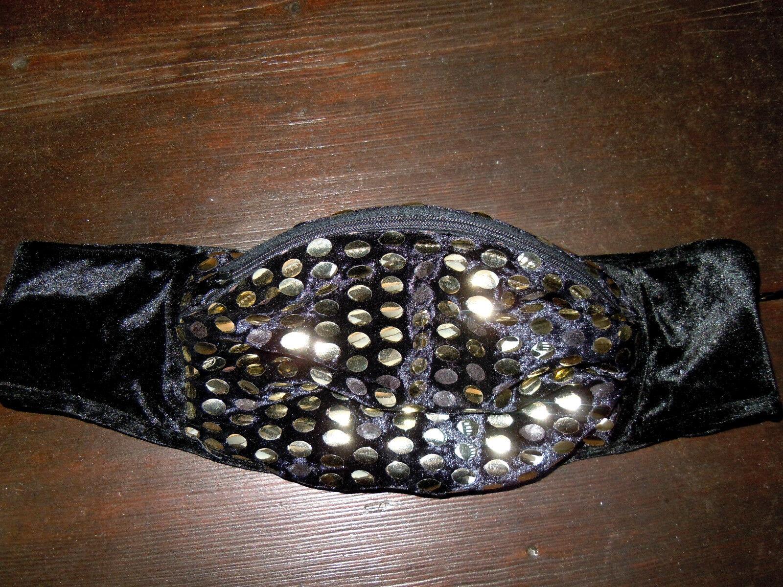Elegante Partytasche Abendtasche Abendtasche Abendtasche Bauchtasche Wimmerl aus Samt m.Goldpailetten    | Grüne, neue Technologie  17d8f1