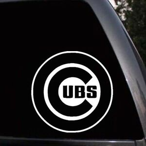 Chicago Cubs Logo Baseball Car Truck Window Macbook Laptop Vinyl - Window stickers for cars chicago