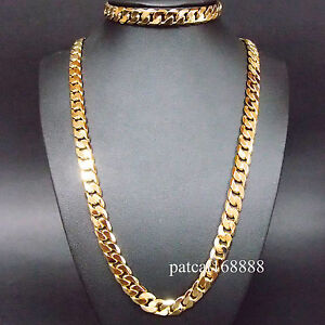 Stamped Italy 24kgl 24k Yellow Gold Filled Men S Chain
