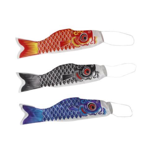 3er Koi Nobori Karpfen Flagen Koinobori Segelfisch Fischwind Koi Wind Sock