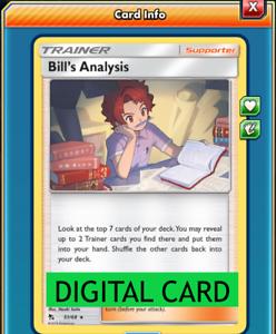 Bill/'s Analysis 51//68 Hidden Fates PTCGO Online Digital Card