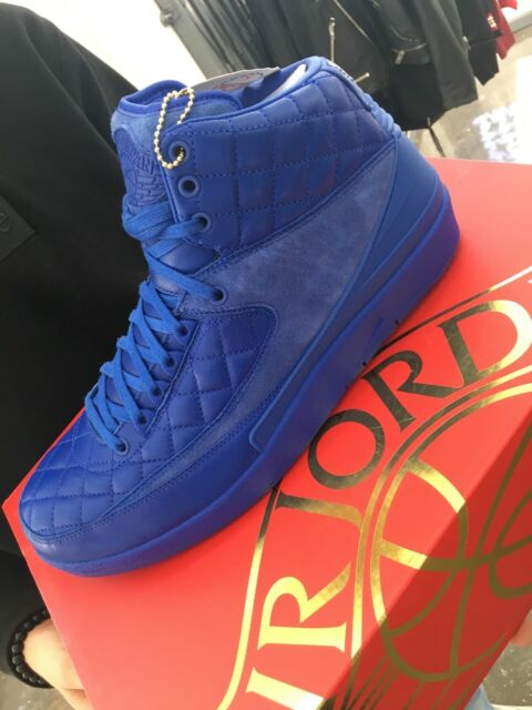 dcaf166ce34 Nike Air Jordan Retro 2 Just Don C Quilted Blue Size Men's 12 for ...