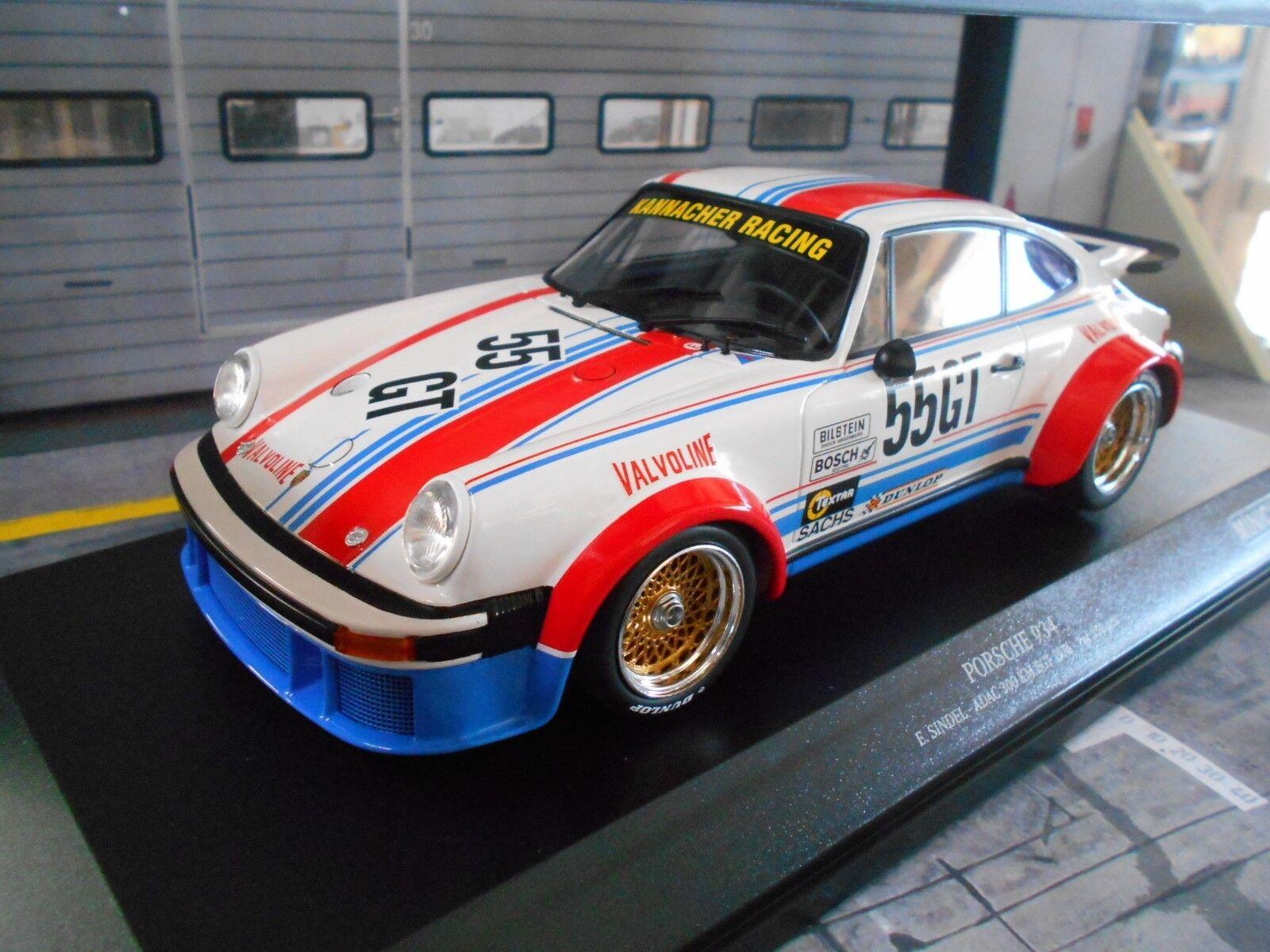 Porsche 911  934 DRM Nurburgbague 1976 GT  55 Sindel PMA Minichamps S-PRIX 1 18  2018 magasin