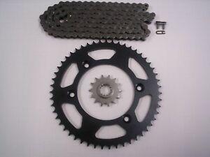 SUZUKI-DRZ125L-16-034-REAR-WHEEL-ONLY-NEW-SPROCKET-amp-CHAIN-SET-14-57-03-15