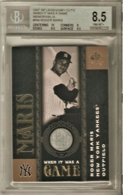 2007 SP LEGENDARY CUTS WHEN IT WAS A GAME #RM ROGER MARIS 8.5 NM-MT+