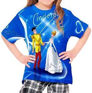 Cinderella-Girls-Kid-Youth-T-Shirt-Tee-Age-3-13-New