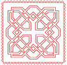 Celtic Redwork and Embroidery Quilt Blocks: 36  Machine Embroidery Designs 4x4+