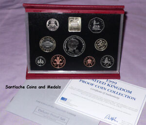 1999 ROYAL MINT DELUXE PROOF SET - Diana £5 Crown + Rugby £2 + Scottish Lion £1