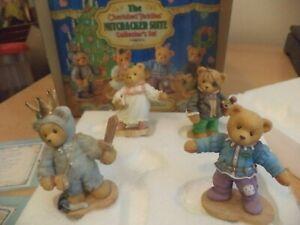 VINTAGE-BOXED-retired-cherished-teddies-TEDDY-BEAR-SET-NUTCRACKER-SUITE-enesco