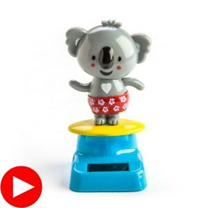 Koala Solar Dancer Fun Solar Powered Flip Flap Car Home Desk Swing Toy Gifts