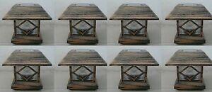 8-KITS-New-Bronze-Outdoor-Garden-Solar-Panel-Post-Deck-Cap-Light