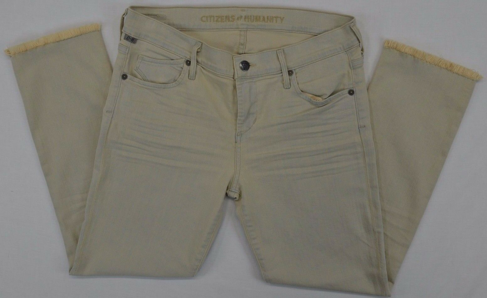 Citizens Of Humanity Cropped Cut-Off Womens Light Denim Jeans size 29