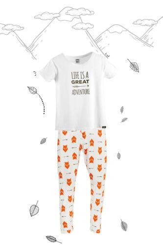 BNWT adulte Pyjamas avec tee-shirt super doux Fox Imprimé