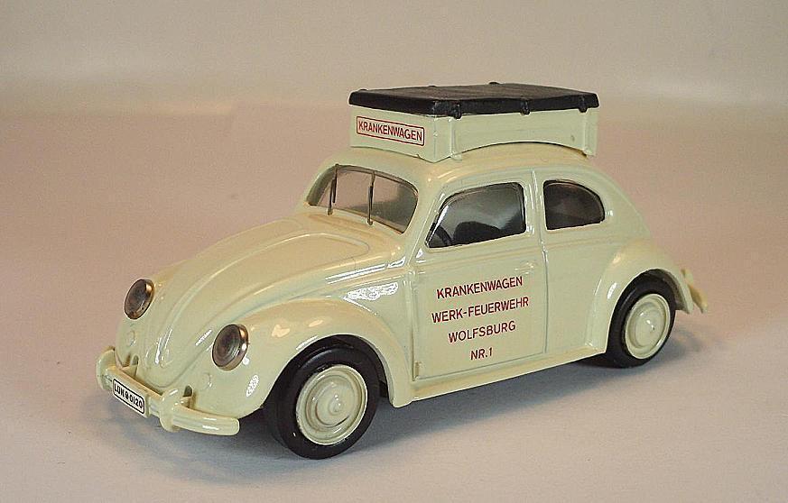 Century 1/43 VW Maggiolino BISCOTTO MAGGIOLINO Ambulanza Vigili del Fuoco di fabbrica Wolfsburg ov  2178