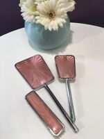 Vintage Art Deco Vanity Set, Dressing Table Set With Hand Mirror And Brushes