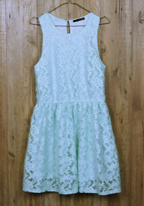 WOMENS-PRIMARK-ATMOSPHERE-DRESS-SIZE-UK-12-BLUE-GREEN-FLORAL-SLEEVELESS-DRESS