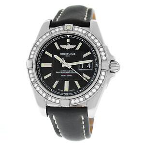 Breitling Galactic 41 A49350LA/BA07-429X Unisex Diamond Steel 41MM Watch