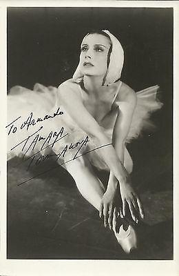 "Autographs-original Collection Here Tamara Toumanova In Role ""swanlake"" Original Handsigned Photo Portrait 1950's"