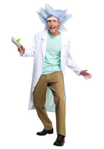 Adult Rick and Morty Deluxe Rick with Wig /& Unibrow