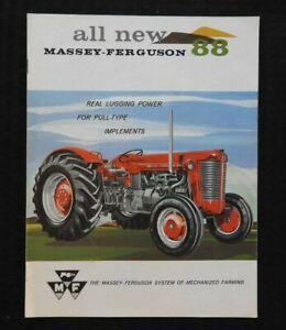 "1959 ""THE ALL-NEW MASSEY-FERGUSON MF 88 TRACTOR"" CATALOG BROCHURE VERY NICE"
