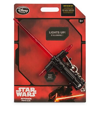 NEW Star Wars Force Awakens Kylo Ren Lightsaber Keychain Authentic Disney Store