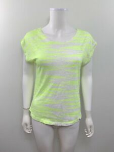 The-North-Face-Women-s-Size-Small-Short-Sleeve-Scoop-Neck-Striped-Hi-Low-Shirt