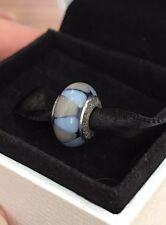 1 Genuine Pandora Murano Glass Charm Blue Triangle 790637 Silver 925ALE