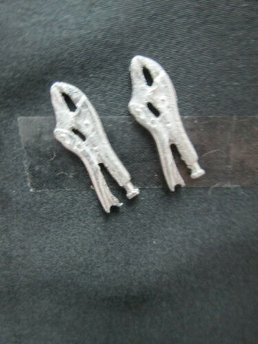 2 Dollhouse Miniature Unfinished Metal Vise Grips