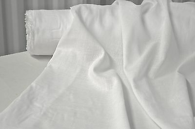 """Bright White Cotton Voile Fabric 100% Cotton 54"""" Wide Fabric 7 Yards"""