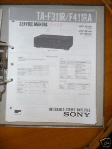 Tv, Video & Audio Service-manual Sony Ta-f311r/f411ra Amplifier,original