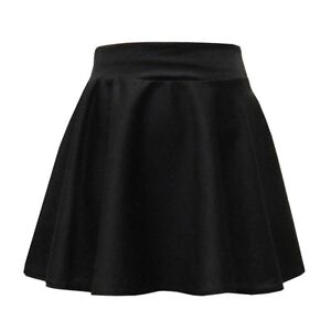 Girls Black Skater Skirt Kids Fashion School Party Formal Clothes Age 7-16 Years