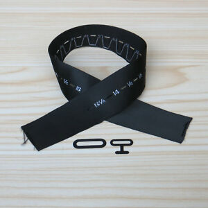 "Bow Tie Hardware: 1/"" Sizing Ribbon Pick Size /& Qty Black Metal T-hook /& Eye"
