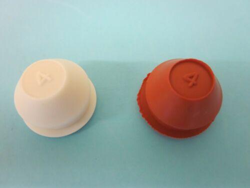 """2 WHITE Rubber Stoppers for Homer Fiestaware Salt /& Pepper Shakers 5//8/"""" Made US"""