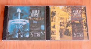 J-adore-la-chanson-francaise-Brassens-Ferre-Salvador-Bourvil-2-CD-Neuf-New