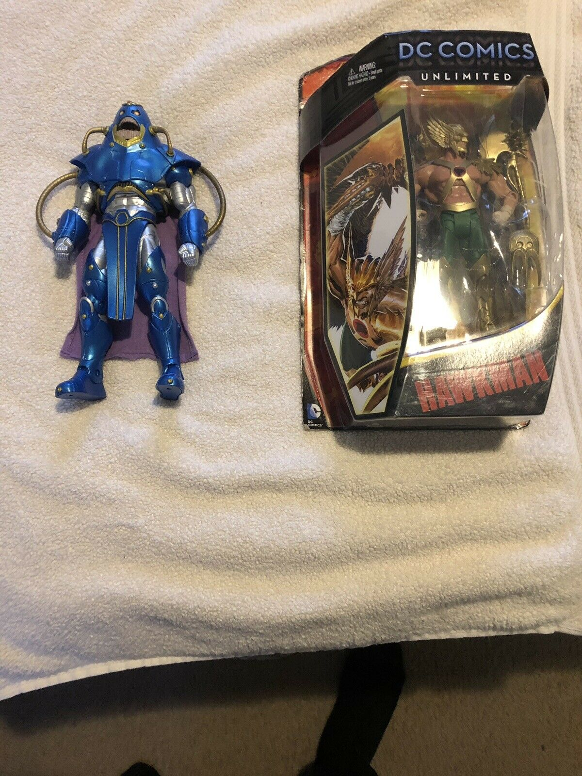 Anti monitor BAF (open-used) and DC Comics Unlimited Hawkman (new-unopened)