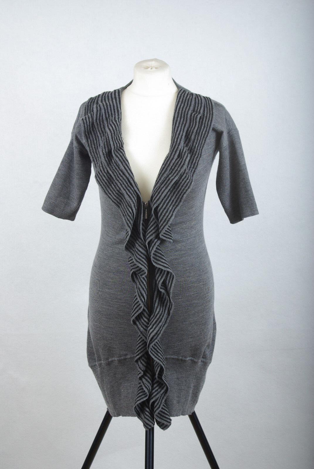 2cf4558d5f 09 Karen Millen Wool Lyocel Sexy Fitted Long Jumper Dress